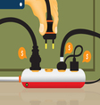 Electrical outlet and power outlet vector image
