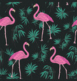 elegant exotic seamless pattern with gorgeous pink vector image