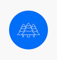 forest camping jungle tree pines white line icon vector image