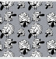 funny sheep background vector image