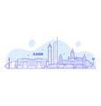 glasgow skyline scotland uk city buildings vector image vector image