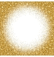 Gold glitter bright vector image vector image