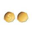 gold stamp wax seal gold coin vector image