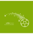 icon soccer ball vector image vector image