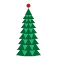 image of a christmas tree vector image