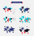 infographics about the trend of population status vector image vector image
