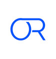 initial letter o r logo template vector image