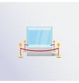 Isolated blue exhibition showcase vector image