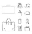 isolated object of suitcase and baggage symbol vector image