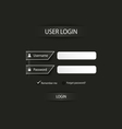 Login web dark screen template vector image