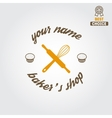 Logo label emblem or badge for bakery or baker vector image