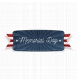 Memorial Day national Banner with Text vector image vector image