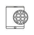 mobile world on white background vector image vector image