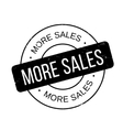 More Sales rubber stamp vector image vector image