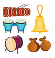 Musical drum wood rhythm music instrument series