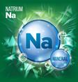 na natrium mineral blue pill icon vitamin vector image vector image