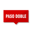 paso doble red tag vector image vector image