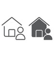 real estate agent line and glyph icon vector image