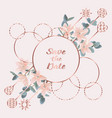 save the date card with eucalyptus flowers and vector image