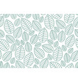 seamless linear leaves pattern horizontal plant vector image