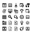 seo and digital marketing glyph icons 14 vector image vector image