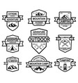 set of mountain camp emblem templates design vector image vector image