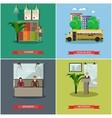 set school concept design elements vector image