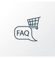 shop faq icon line symbol premium quality vector image vector image