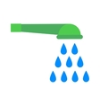 Shower cartoon flat vector image