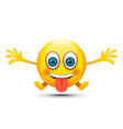 silly emoji character vector image vector image