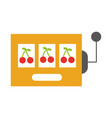 slot machine isolated icon vector image vector image
