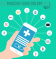 smartphone in hand medical application vector image