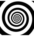 spiral color black on white background vector image