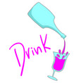 sticker drink vector image