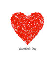 valentines day heart shape with lot vector image vector image