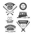 vintage baseball sports old logos vector image vector image