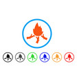 wood campfire rounded icon vector image