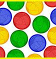 wool skein pattern vector image