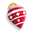 xmas tree cone toy icon cartoon style vector image