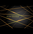 yellow line light laser cross overlap on dark grey vector image vector image