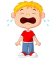 Young boy cartoon crying vector image vector image