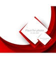 Red brochure with squares vector image