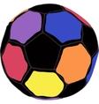 Color futboll ball vector image