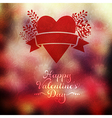 heart with herbs and ribbon on blurred background vector image