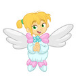 cute happy christmas angel character vector image