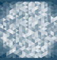 3d abstract geometric dark blue triangle vector image
