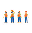 a set of accidents with worker in an orange