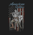 american soldier strong and brave vector image