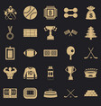 athlete salary icons set simple style vector image vector image