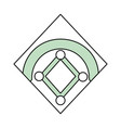 baseball field isolated vector image vector image